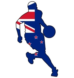 basketball colors of New Zealand vector image vector image