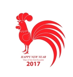 Chinese New Year 2017 Year of the rooster vector image vector image