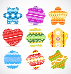 Colorful Christmas baubles collection vector image vector image