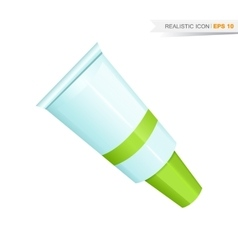 green paint tube icon vector image vector image