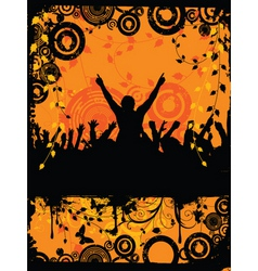 grunge party time vector image vector image