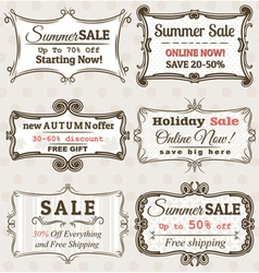 Set of special sale offer labels and banners vector image vector image