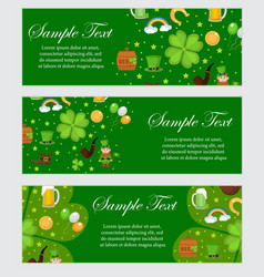 st patrick s day banner template for your design vector image vector image