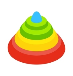 Toy pyramid isometric 3d icon vector image vector image