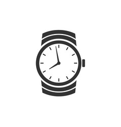 watch icon isolated on white background vector image vector image