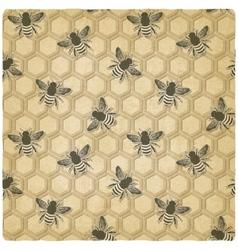 bee honeycomb pattern vector image