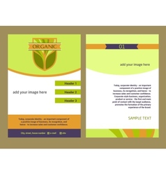 Brochure Flyer design template in A4 size Logo vector image