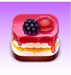 cake ios app icon vector image