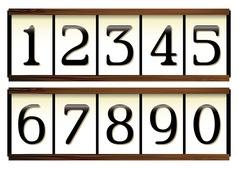 Door numbers vector image vector image