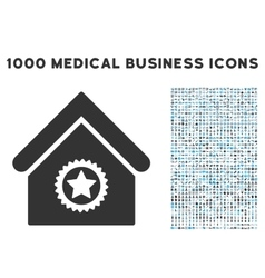 Excellent Building Icon with 1000 Medical Business vector image vector image