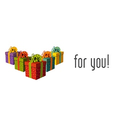 Gifts for you vector image vector image