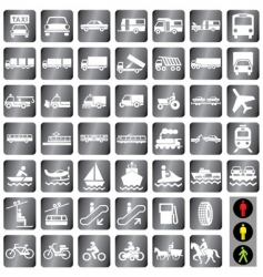 icons transport vector image vector image