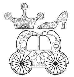 Princess set coloring vector image vector image