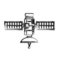 space satellite isolated vector image vector image