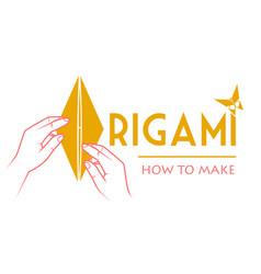 classes origami logo vector image vector image