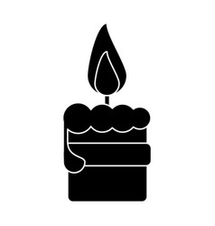 Easter candle flame with ribbon decoration vector