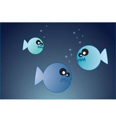 hungry fish vector image vector image