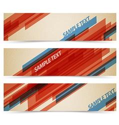 Set of retro horizontal banners vector image