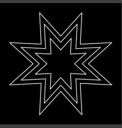 Trendy retro star the white path icon vector