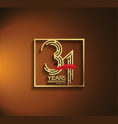 31 years anniversary logotype golden color vector