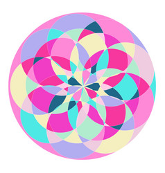 abstract pattern in the form of a circle vector image