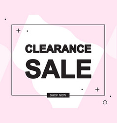 Advertising banner or poster with clearance sale vector