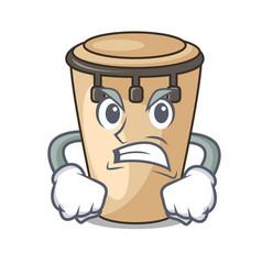 Angry conga mascot cartoon style vector