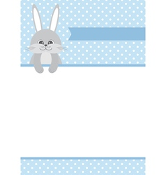 Baby Boy Bunny Card vector image