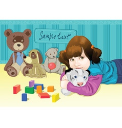 Baplaying with toys vector