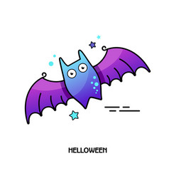 Bat icon halloween sticker vector