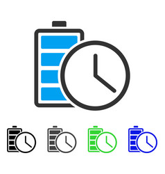 Battery time flat icon vector