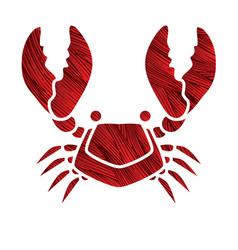 big crab graphic vector image