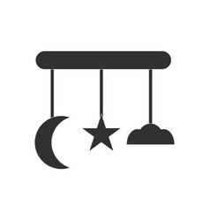 Black icon on white background funny baby toys vector