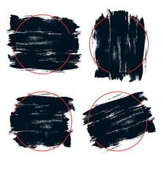 Black paint ink brush stroke vector