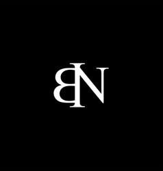 Bn letter mark monogram logo icon vector