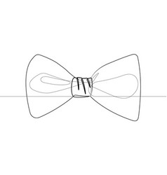 bow tie single line black and white graphic vector image