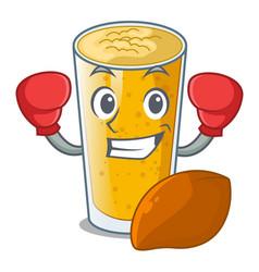 Boxing lassi mango in a cartoon glass vector