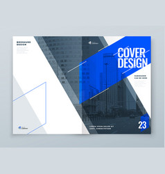 Brochure template layout design blue corporate vector