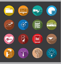 Business and finance flat icons vector