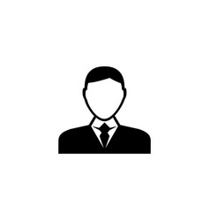 businessman character avatar flat icon vector image