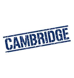 Cambridge blue square stamp vector