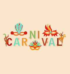 carnival banner rio festival with dancers vector image