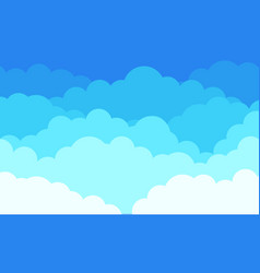 Cloud background cartoon blue sky with white vector