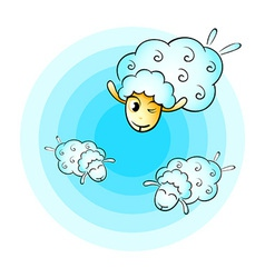 Cloud sheep vector image