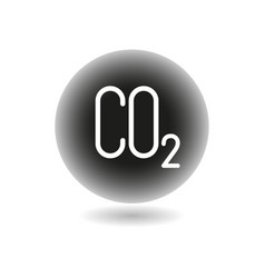 co2 carbon emissions concept icon badge vector image