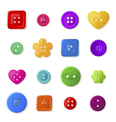 colorful sewing buttons flat vector image