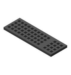 computer keyboard icon isometric style vector image