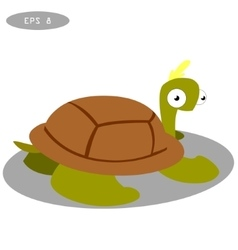 Cute turtle clip art cartoon vector image