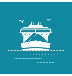Dry Cargo Ship Isolated on Green vector