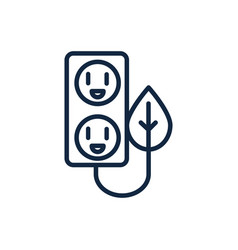 Electrical outlet leaf ecology environment icon vector
